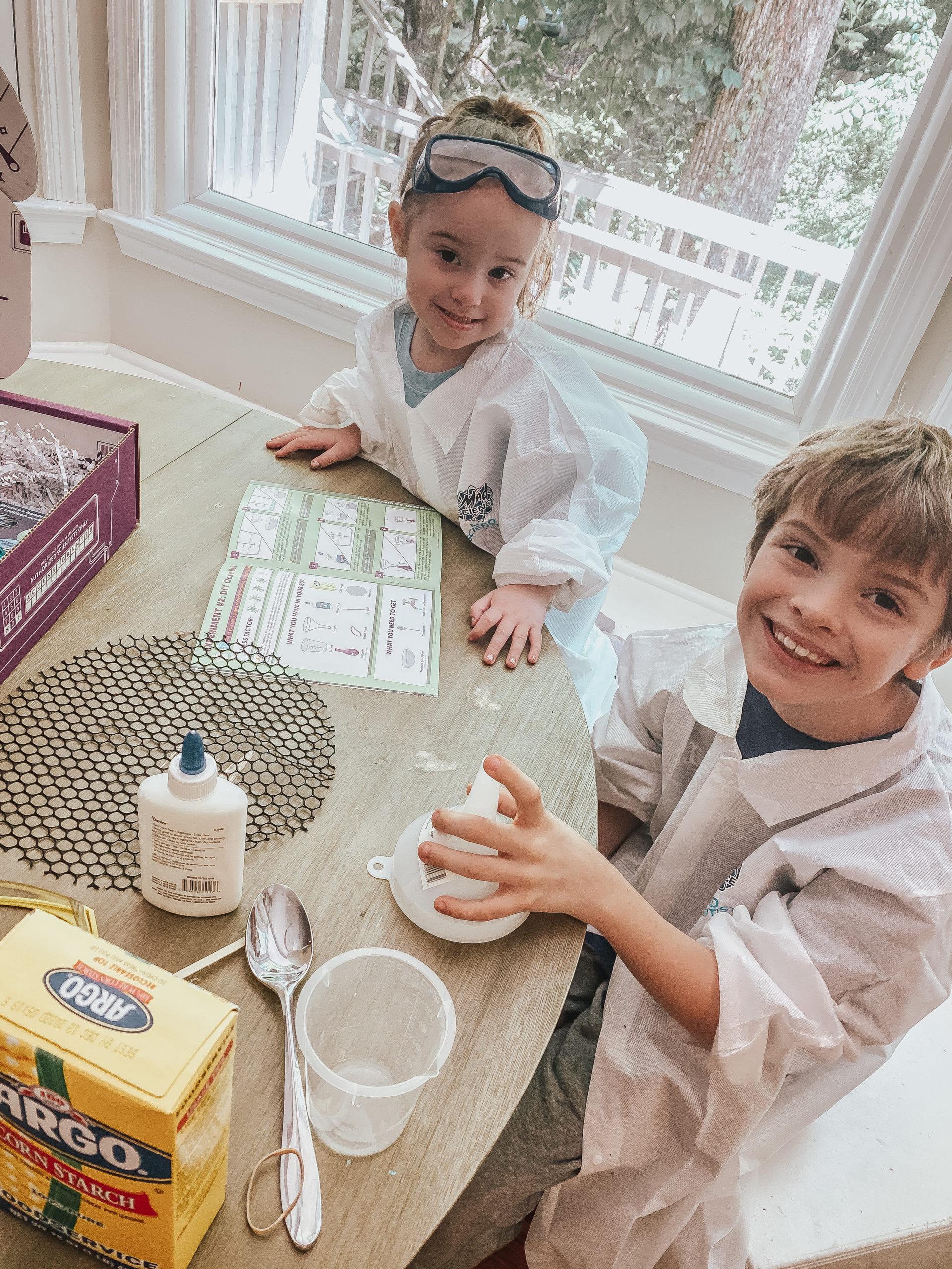 kids working on stm